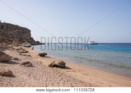 Summer Beach Of Red Sea In Egypt