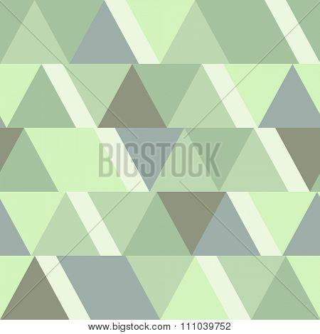 Seamless light green triangular background