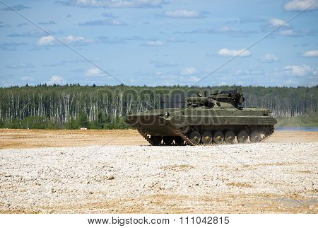 Infantry fighting vehicle BMP-2 at the proving ground