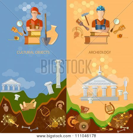 Archeology Banners Cultural Objects Treasure Hunters Archaeological Excavations Ancient Artefacts To