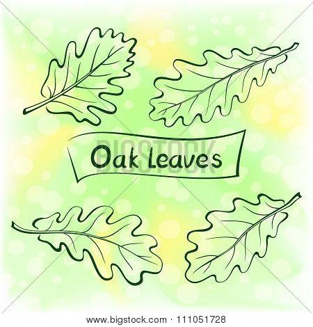 Oak Leaves, Pictogram Set