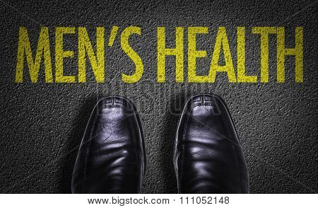 Top View of Business Shoes on the floor with the text: Mens Health