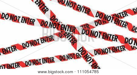 Red And White Striped Do Not Enter Barrier Tape Background