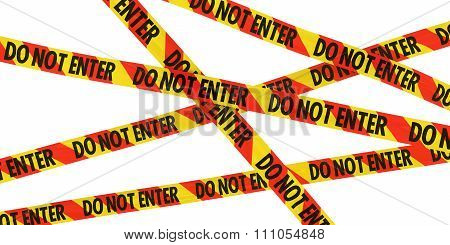 Red And Yellow Striped Do Not Enter Barrier Tape Background