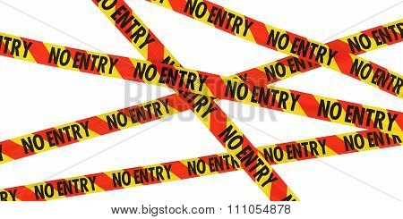 Red And Yellow Striped No Entry Barrier Tape Background