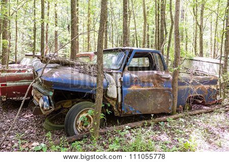Old Blue Pickup