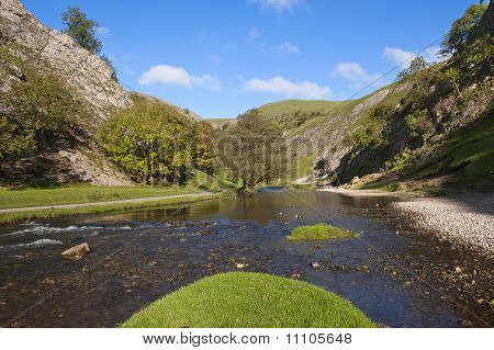 Dovedale in the Peak District Derbyshire England is a wonderful area for walking.