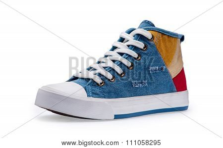 Single Of Blue Gumshoes With Shoelace