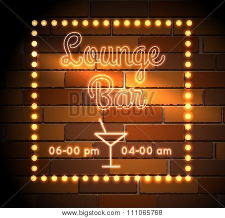 Lounge Bar Neon Sight