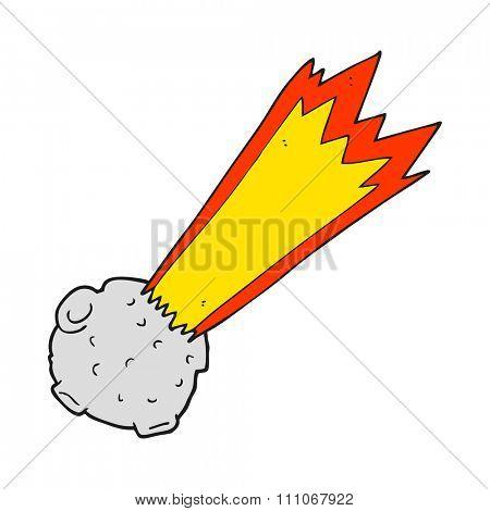 freehand drawn cartoon meteor
