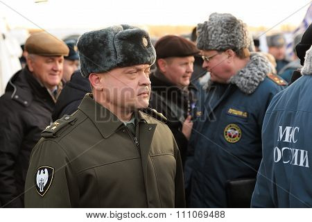 Orel, Russia - December 09, 2015: Emergency Control Ministry (mchs) Tactical Exercise. Russian Inter