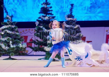 Minsk, Belarus December 05: Unidentified Gymnast From ' Usit' Participate With 'winter M