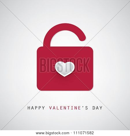 Valentine and Wedding Card Design With Padlock