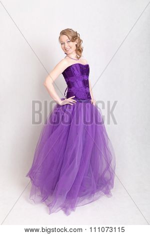 Girl In Evening Gown
