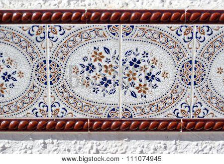 Elaborate mosiac wall tile in Spain