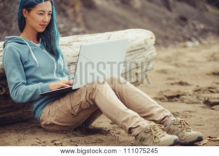 Freelancer Working Outdoor