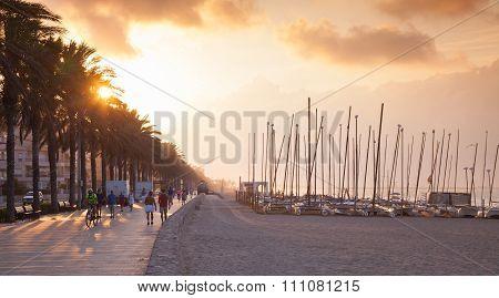 Dramatic Coastal Landscape, Sunny Spanish Beach