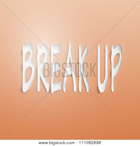text on the wall or paper, break up
