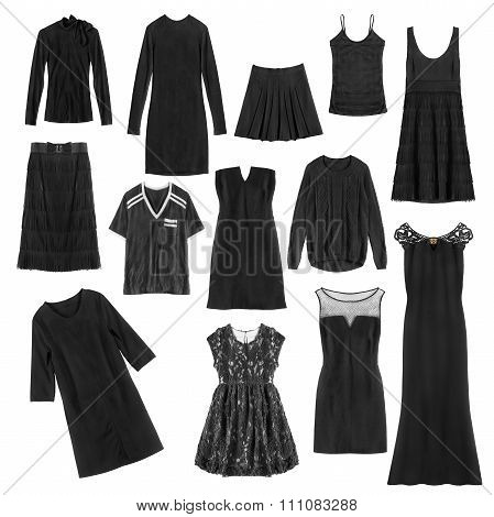 Black Clothes Isolated