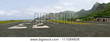 Runway On The Airport Of Fajan D'agua