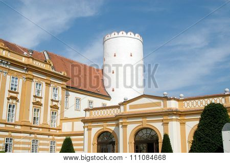 A Detail Of The Ancient And Imposing Monastery Of Melk On The Danube In Austria