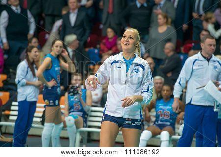 Julia Morozova (dynamo (msc) On The Training On Women's Rissian Volleyb