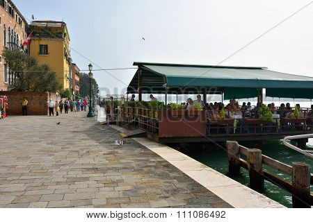 Venice, Seafront At Morning