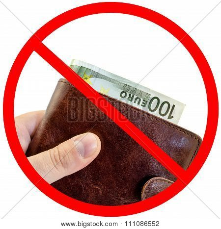 Sign Stop Corruption, Do Not Give Bribes Isolated On White