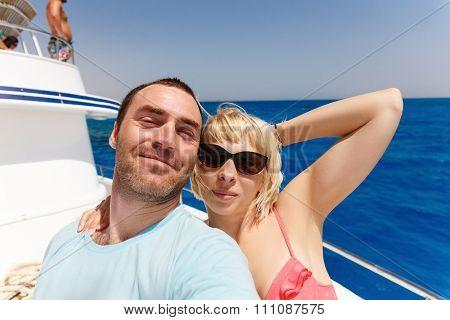Cruise Ship Couple Taking Selfie