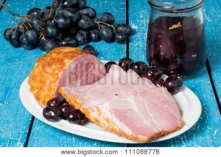 Cold Boiled Pork With Grapes