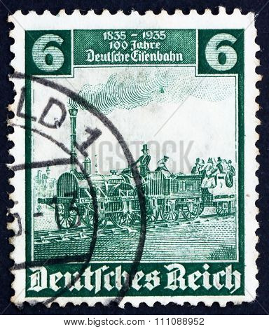 Postage Stamp Germany 1935 The Eagle, Engine