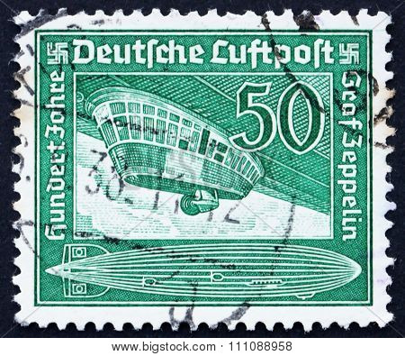 Postage Stamp Germany 1936 Airship Gondola
