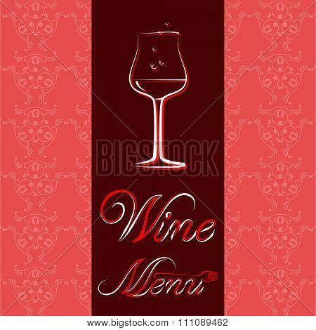 Wine Menu Card List Design Template