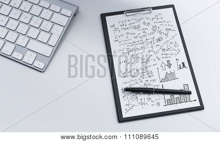 Notepad And Pen, Keyboard, Worklpace