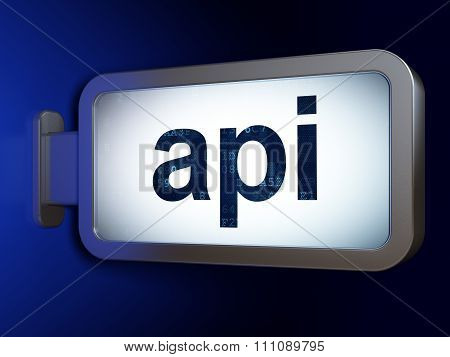 Database concept: Api on billboard background