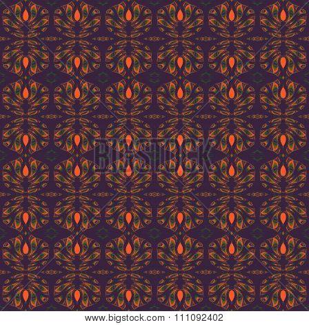 Seamless pattern purple orange