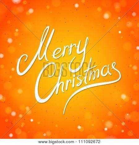 Orange Merry Christmas Greeting Card