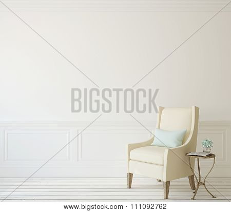 Interior With Armchair. 3d rendering.