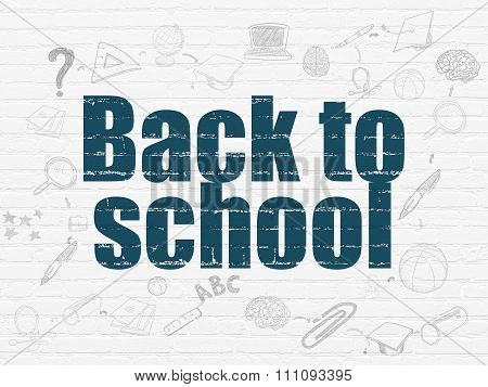 Education concept: Back to School on wall background