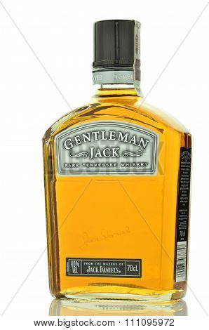 Gentleman Jack Rare Tennessee whiskey isolated on white background