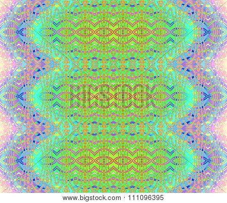 Seamless ellipses pattern green purple