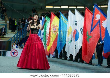 Stadium Druzhba. Honored Artist Of The Russian Federation Irina Savitskay