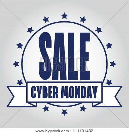 Insignias Logotypes Cyber Monday Design. Vector Illustration Eps10. Cyber Monday Graphic.