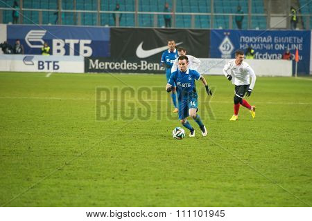 Midfielder Mathieu Valbuena (14) On The Football Match On Russian Premier Leagu