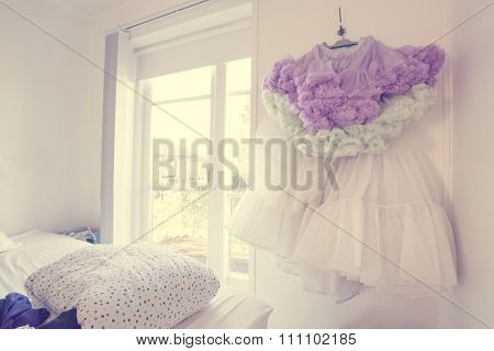 Tulle Skirt In A Bedroom