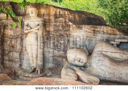 The Gal Vihara in the world heritage city Polonnaruwa, Sri Lanka.