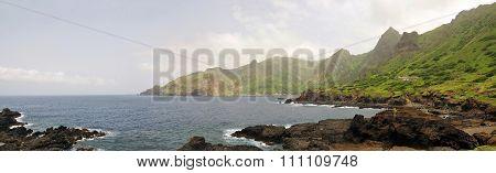 Volcanic Coastline In Fajan D'agua