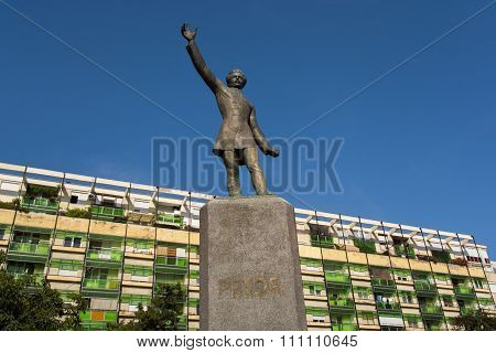 Statue Of Petofi Sandor In Hungary