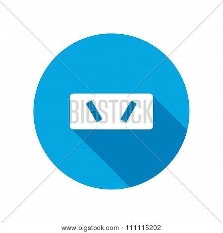 Electric plug sign. Power energy symbol.