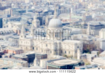 Defocused Background Of St Paul Cathedral In London